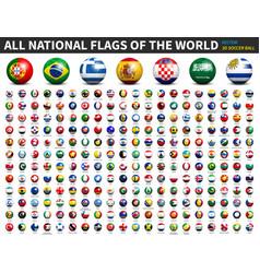 All national flags world 3d soccer ball vector
