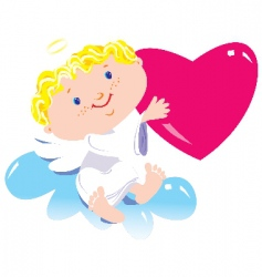 angel boy vector image