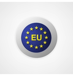 Badge button with European Union vector image