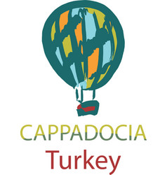 Balloon in cappadocia turkey vector
