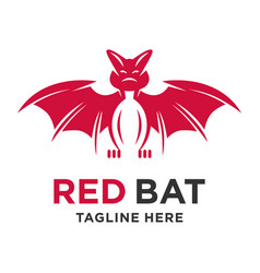 bat animal logo vector image