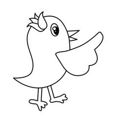 bird cute cartoon vector image