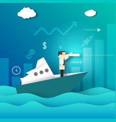Businessman looking for new opportunities vector