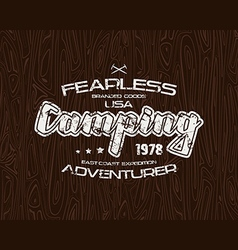 Camping typographic emblem vector image