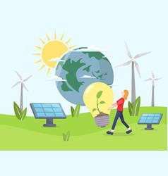 Clean energy concept vector