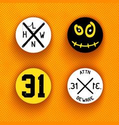 creative halloween labels vector image