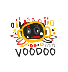 Creative kid s style drawing voodoo magic logo or vector