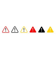 Danger sign warning sign attention sign line vector