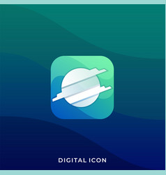 Digital media application template vector