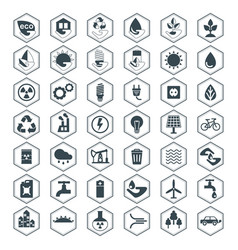 Eco icons black set vector