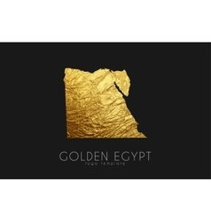Egypt map Golden Egypt logo Creative Egypt logo vector image