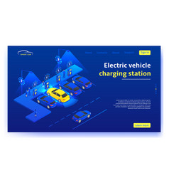 electric vehicle charging station concept vector image