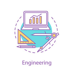 Engineering and construction concept icon vector