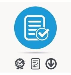 File selected icon Document page with check vector