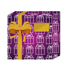 gift box present with gifts pattern vector image