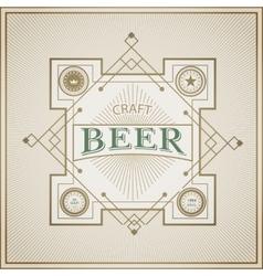 Good craft beer brewery vintage label vector