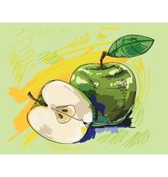 Green apples vector