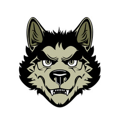 head angry werewolf on vector image