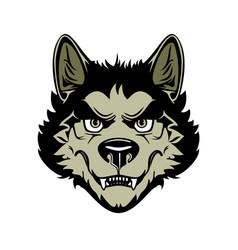 Head angry werewolf vector