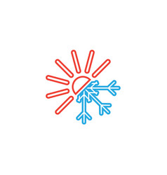 Hot and cold icon graphic design template vector