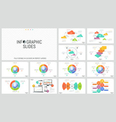 huge set of minimal infographic design layouts vector image