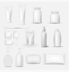 hygiene cleaning set isolated on white background vector image
