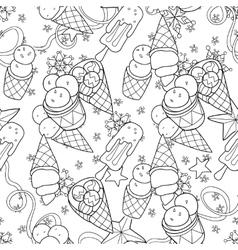 Ice cream seamless patternHand drawn vector image