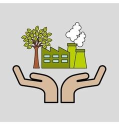 industrial buildings eco environment graaphic vector image