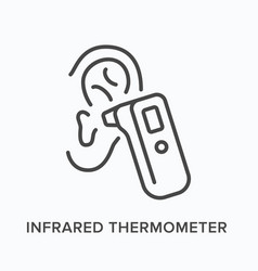 Infrared thermometer flat line icon vector