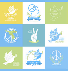 international peace day collection vector image