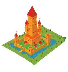 Isometric castle vector