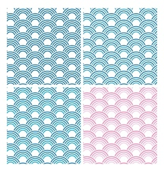 Japanese Seamless Pattern Set eps10 vector image