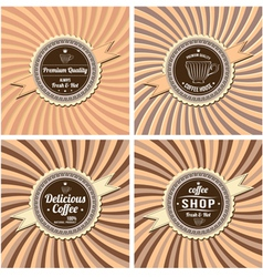labels for coffee vector image