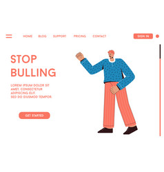 landing page stop bullying concept vector image
