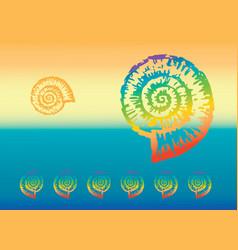 Multicolored nautilus vector
