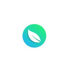 Nature leaf logo design icon element vector