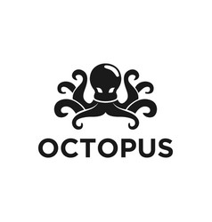 Octopus modern logo design simple minimalist vector