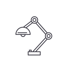 office lamp line icon concept office lamp vector image