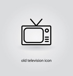 Old television icon on grey background vector