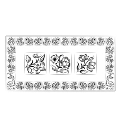 Old tiles portuguese frame vector