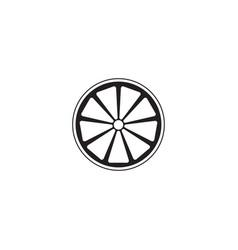 Orange solid icon healthy fruit vector