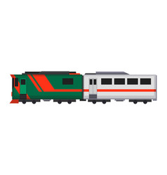 passenger express train railway carriage cartoon vector image