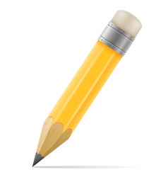 Pencil with eraser for drawing vector
