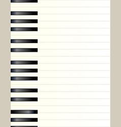 Piano key background vector