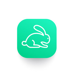 Rabbit icon in linear style vector