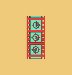 Retro movie frame in flat vector