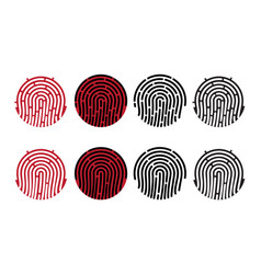 round fingerprints vector image