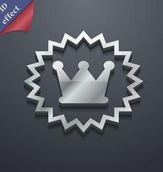 rown icon symbol 3D style Trendy modern design vector image
