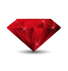 Ruby isolated on a white background vector