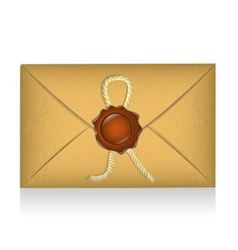 sealed envelope with sealing wax vector image